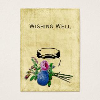 Cartes De Visite pot de maçon rustique vintage souhaitant les