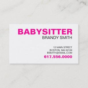 Cartes De Visite Pour Des Babysitters