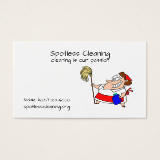 Cartes de visite pour les sociétés de nettoyage