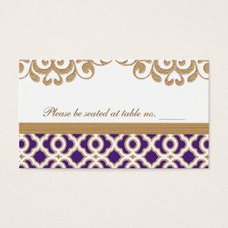 Cartes De Visite Pourpre et endroit marocain de Tableau de mariage