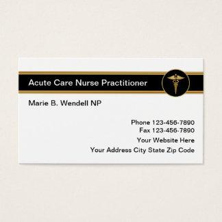 Cartes De Visite Praticienne aiguë d'infirmière de soin