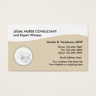 Cartes De Visite Praticienne juridique d'infirmière