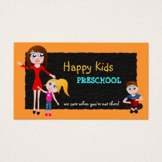 Cartes de visite préscolaires de professeur