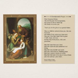 Cartes De Visite Prière Anne Joachim Mary de grands-parents