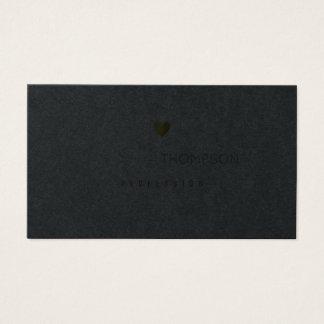 Cartes De Visite prime minimaliste de noir de femmes de prof.