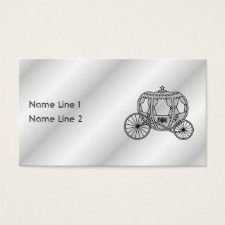 Cartes De Visite Princesse Carriage dans le gris