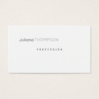 Cartes De Visite prof. simple et clair blanc minimaliste