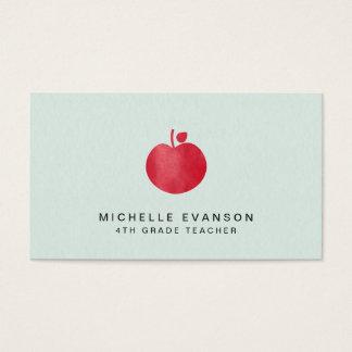 Cartes De Visite Professeur Apple rouge simple vert en bon état