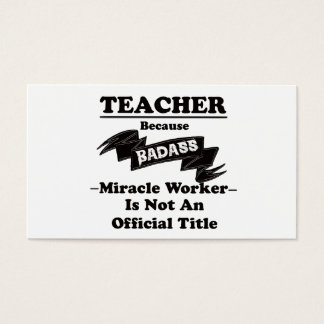 Cartes De Visite Professeur de Badass