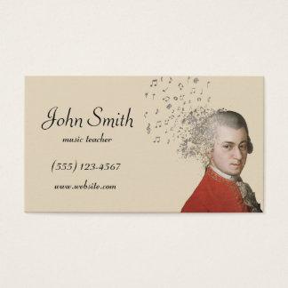 Cartes De Visite Professeur de musique - Mozart