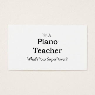 Cartes De Visite Professeur de piano