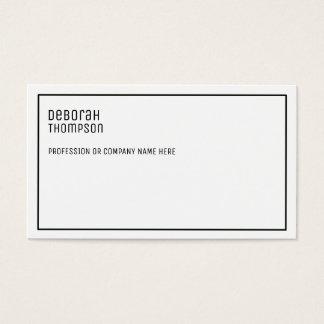 Cartes De Visite professionnel blanc et propre élégant minimaliste