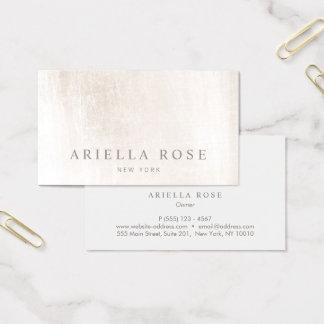Cartes De Visite Professionnel de marbre blanc balayé élégant