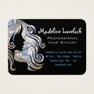 Cartes De Visite Professionnel de salon de styliste en coiffure
