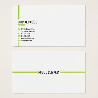 Cartes De Visite Professionnel élégant moderne minimaliste