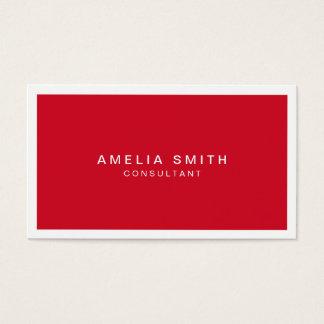 Cartes De Visite Professionnel moderne d'entreprise rouge et blanc