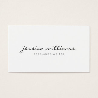 Cartes De Visite Professionnel moderne minimaliste