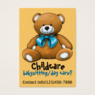 Cartes De Visite Promo de garde d'enfants de soin de garde de