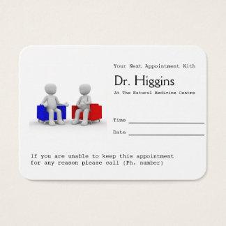 Cartes De Visite Psychologue ou consultation du rappel de