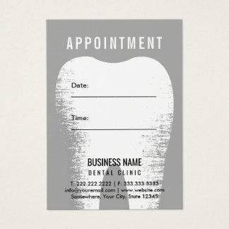 Cartes De Visite Rappel dentaire de rendez-vous de bureau de