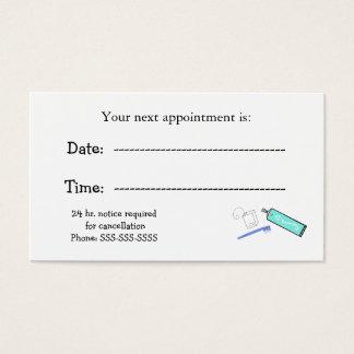 Cartes De Visite Rappels de rendez-vous de dentistes