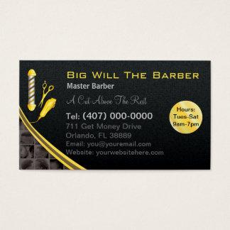 Cartes De Visite Raseur-coiffeur (poteau, tondeuses