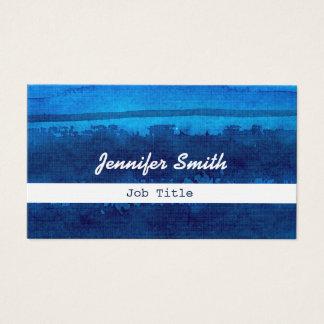 Cartes de visite rayés d'aquarel bleu d'aquarelle carte de visite standard