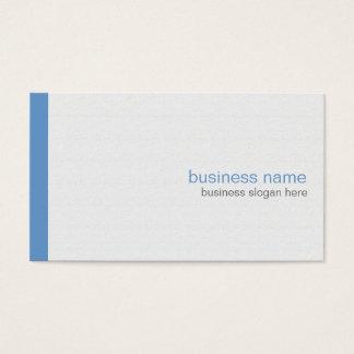 Cartes De Visite Rayure bleue simple moderne élégante simple sur le