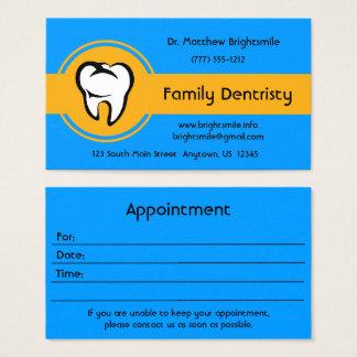 Cartes De Visite Rayure jaune d'or audacieuse de dent blanche