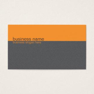 Cartes De Visite Rayure orange/grise simple élégante simple