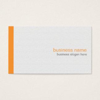 Cartes De Visite Rayure orange simple moderne élégante simple sur