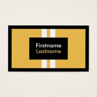 Cartes De Visite Rayures blanches verticales d'arrière - plan jaune