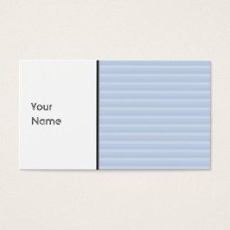 Cartes De Visite Rayures bleu-clair