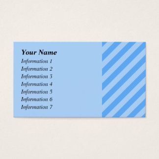 Cartes De Visite Rayures bleues