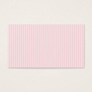 Cartes De Visite Rayures de sucrerie de rose en pastel