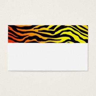 Cartes De Visite Rayures de tigre
