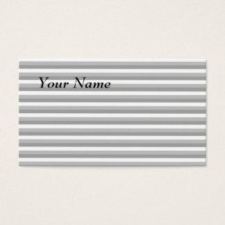 Cartes De Visite Rayures grises et blanches. Modèle