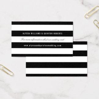 Cartes De Visite Rayures noires audacieuses épousant l'insertion de