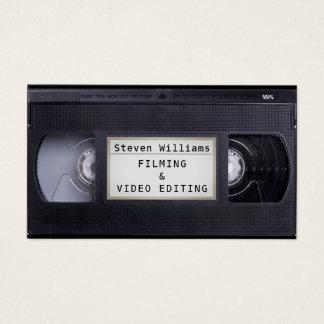 Cartes De Visite Regard de faux de style de cassette de VHS rétro