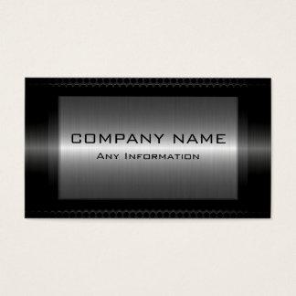 Cartes De Visite Regard en acier métallique noir en métal de gris