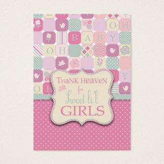 Cartes De Visite Remerciez l'étiquette de cadeau de la fille TY de