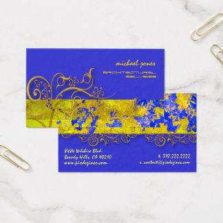 Cartes De Visite Remous en filigrane architecturaux d'or de
