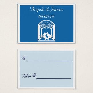 Cartes De Visite Renards de papier dans le bleu d'éblouissement