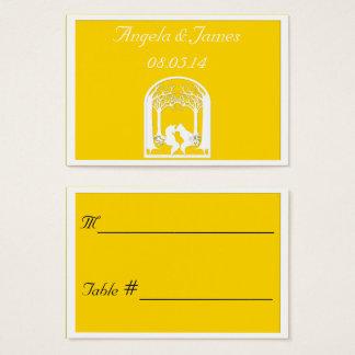Cartes De Visite Renards de papier dans le freesia