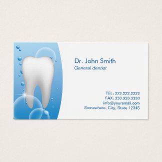Cartes De Visite Rendez-vous blanc de soins dentaires de dent de