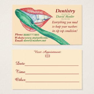 Cartes De Visite rendez-vous de bouche de dents d'hygiéniste de