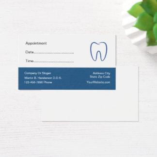 Cartes De Visite Rendez-vous de bureau de dentiste