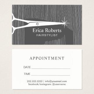 Cartes De Visite Rendez-vous de salon de coiffure de styliste en