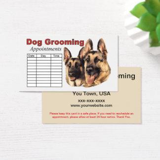 Cartes De Visite Rendez-vous de toilettage de chien de berger