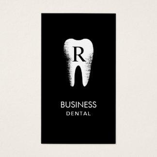 Cartes De Visite Rendez-vous dentaire de dent d'initiale de